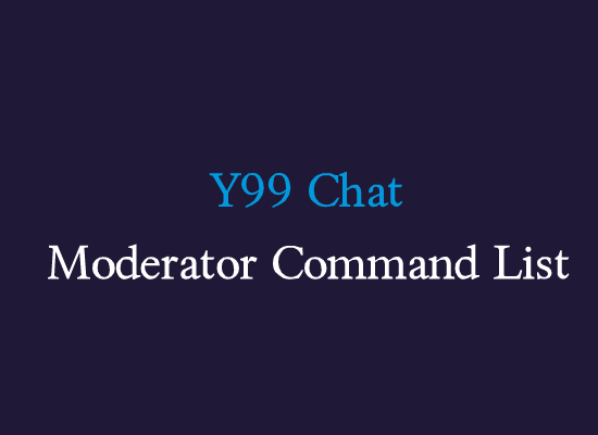 Y99 moderators command list